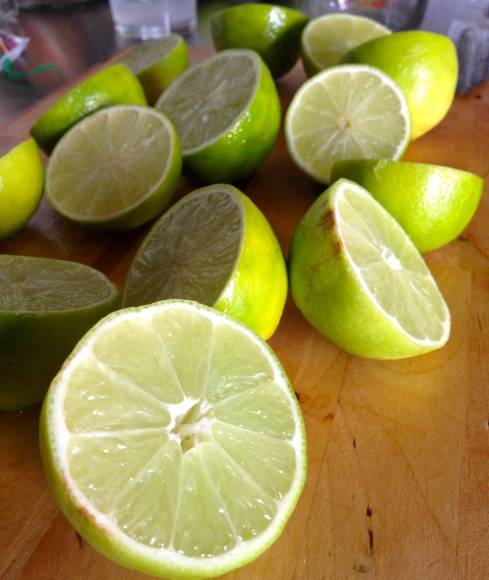 How many limes does it take to make 4 fresh margaritas? Too many!