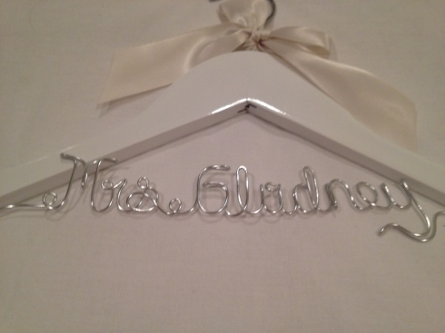 wedding dress hanger :)